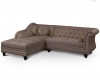 canape-d-angle-corsica-style-chesterfield-taupe Amboise ( 37400 ) - Indre et Loire